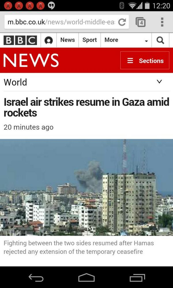 Israel offers ceasefire extension, 33 Gaza rockets fired, 2 Israelis injured and @BBCWorld obliterates context http://t.co/RnrqH9fXP6