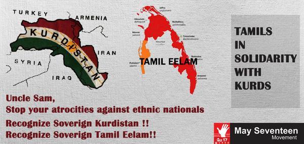 #Tamils in soldidarity with #Kurds  #TwitterKurds #Genocide #Kurdistan #Tamileelam http://t.co/K5CkO0KDg3