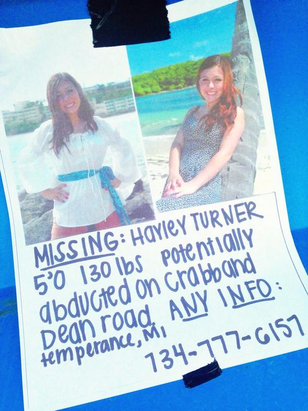 Please share this #missing poster of Hayley Turner, 18. http://t.co/SjXqBhQU8X