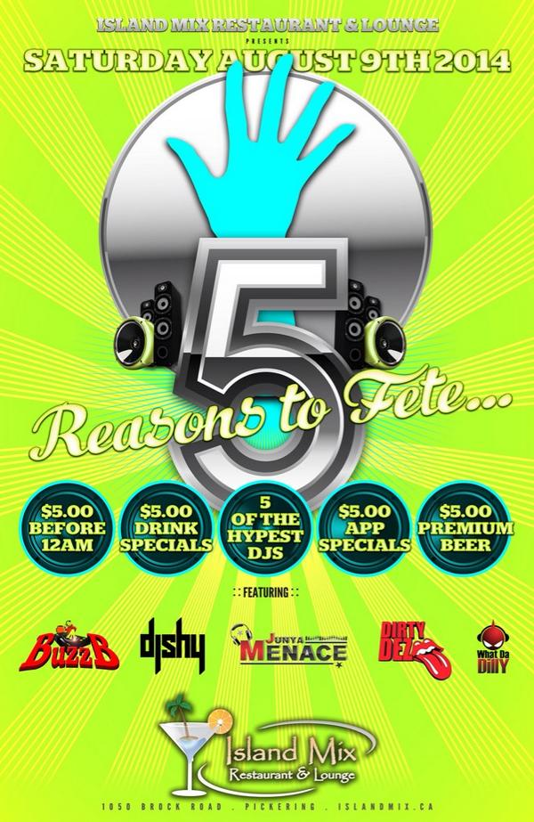We're limin for $5 tomorrow at Island Mix. Check the 5 reasons you should come out. http://t.co/4ZZ0o2mi9N