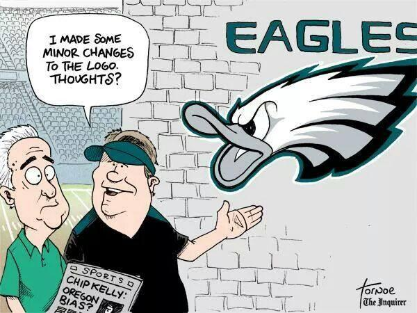 Chip Kelly and the Eagles kick off their preseason today — with a slight logo change. #ChipKelly #Eagles http://t.co/1q9GZRzkzi