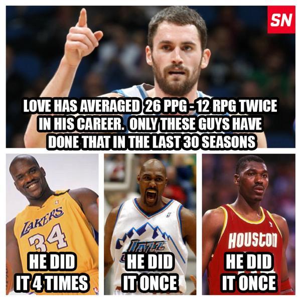BuhTRfOCMAAR9Xj over the last 30 seasons, only kevin love & these 3 guys averaged
