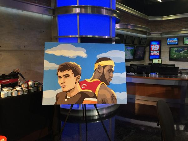 A building owner should let me paint this Lebron/Manziel portrait on the side of their building http://t.co/jps8QBQQ8u
