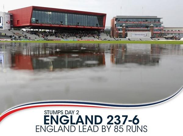 To celebrate India's first innings, Old Trafford have created a duck pond. http://t.co/6D9hr9cxgg