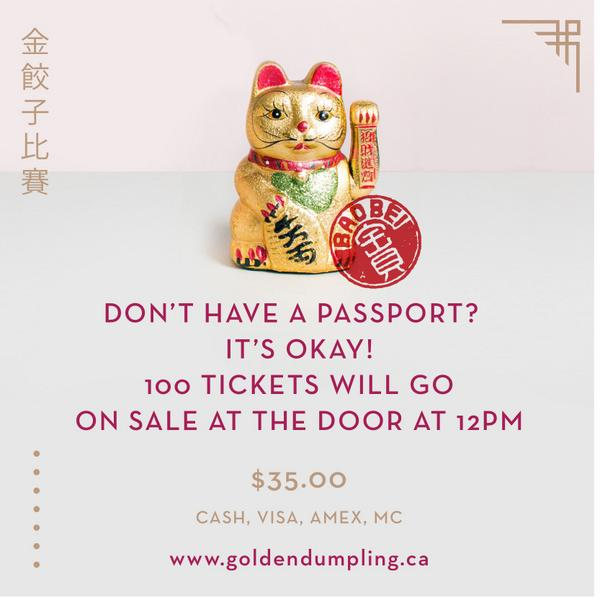 Don't have a Passport for the #GoldenDumpling2014 Cook Off & #DumplingDerby2014 yet? Fortune cat has the answer. #YVR http://t.co/O96i5kOUOf