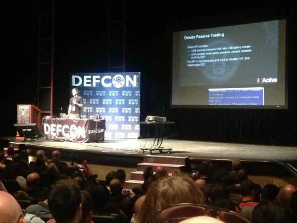 Live: hacker releases research at DEFCON on how to hack into city traffic management systems in US and Europe. http://t.co/IBvilfffMr