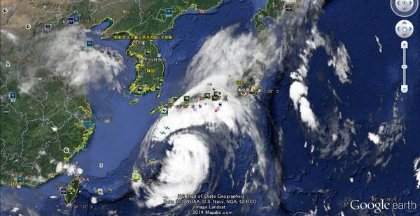 台風11号現在状態 http://t.co/L9hrfSmYYD