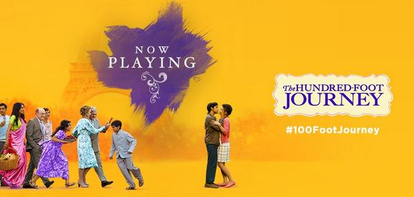 Thank You everyone for all the support on our film. Much Love from all of us at #100FootJourney NOW PLAYING http://t.co/cTOUdtBnPT