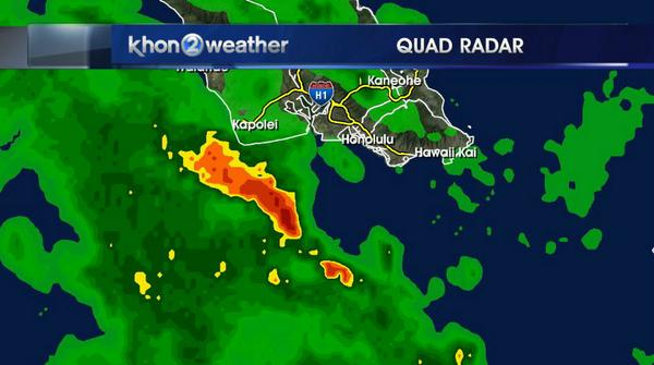 ALERT! Thunderstorms are just offshore of Kapolei. If these move onshore please take cover. http://t.co/TbuaFR3sHu