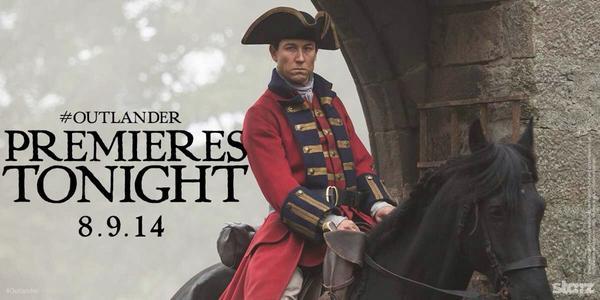 Sam Heughan (@Heughan): Tonight!!!!! 9pm ET  Outlander!  #Outlander #OutlanderStarz #starzTV http://t.co/9nAj6G17vP