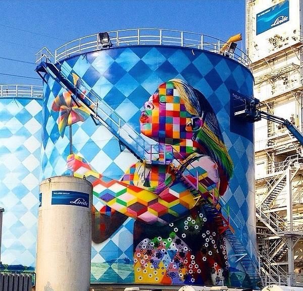 """@artistic_ideas: Artiste Eduardo Kobra new stunning Street Art project located in Cubatão, Brazil http://t.co/nnJ9QNORhO"""
