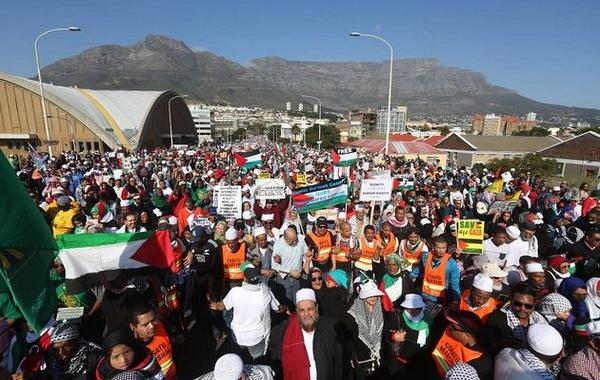 #capeEvent > rt @CapeTown_Rants: This is #CapeTown 200K+ #SouthAfrica United for #Gaza #Palestine. #ICC4israel http://t.co/gI2QqCBccw
