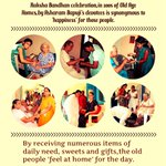 Asaram Bapu Jis Sadhaks celebrate Raksha Bandhan in many Old Age Homes by doing sewa #वैदिक_रक्षा_बंधन_WithBapuji http://t.co/Z9fi8qX0wm
