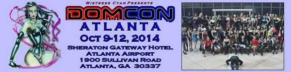Mistress Cyan (@MistressCyan): @OfficialDomCon  Oct 9-12, 2014 registration open.  For more info, see http://t.co/YjRpD5QISM http://t.co/UNEf0FQ7jb