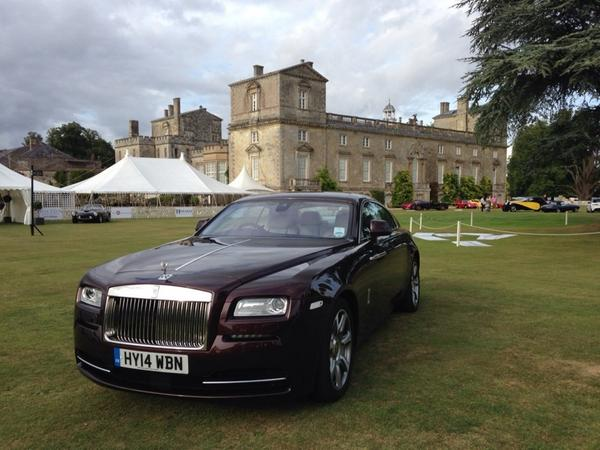 She's in place ready for visitors of @WiltonHouseWCS event tomorrow! @rollsroycecars Wraith. http://t.co/VlKWmoZRaJ