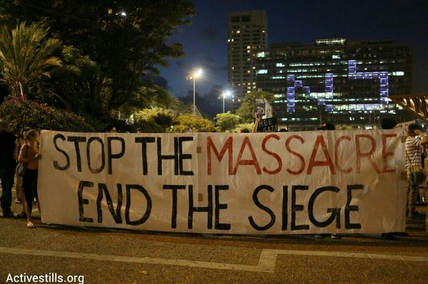 Despite a police ban, 500 Israelis gathered in Tel Aviv tonight to protest the war in Gaza http://t.co/La9H9tcBvh http://t.co/ZFL9b2jmUv