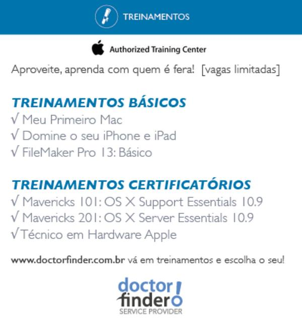 Treinamentos Apple e FileMaker na Doctor Finder! http://t.co/elq2huuphN