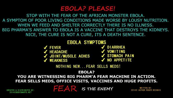 Ebola in a nutshell? We have nothing to fear but fear itself. Monsters don't exist. Toxicity does and can be removed. http://t.co/CzqB2pxoKR
