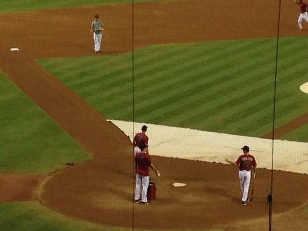 #Dbacks Paul Goldschmidt won't  play again this year. Still comes out to early inf work and flips balls to coaches. http://t.co/l49nGRXT9h