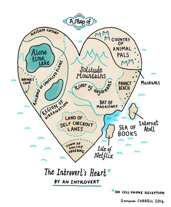 The heart of the introvert isn't the strange, dark, quiet place you might assume it is: http://t.co/IAnKhtDv3q http://t.co/LKgOwa8ead