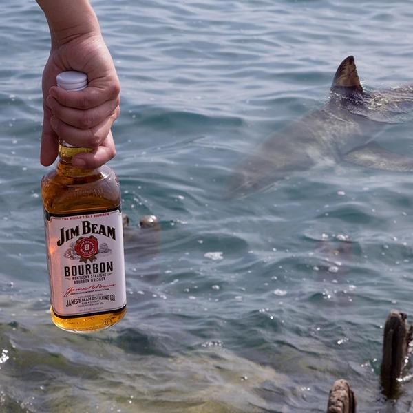 Sharks can smell bourbon from miles away #FakeSharkFact http://t.co/wmgrK9qdUG