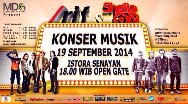@AndyRIF: @AndyRIF: .  /rif & Sheila On 7 Music Concert.  September 19th 2014 7PM Istora Senayan jkt http://t.co/VJPTDKov4Y