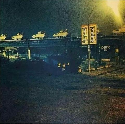 Looks like tanks are coming from IL RT @DJWITZ: And...we got got tanks folks..please be careful. #Ferguson http://t.co/qgEHRjW1qO