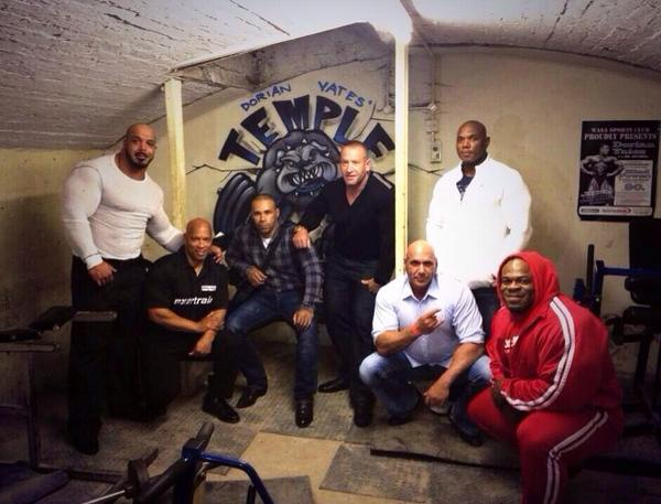 What a Line up @Dorian_Yates @KaiGreene @Flex_Wheeler @sugarshawnray @AndreCoulson @Zackkingkhan @LevroneKevin http://t.co/ZP4RpWjMdO""