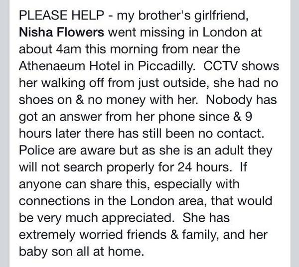 """@doglab: Please please please retweet this. Thank #findher #London http://t.co/kE8VrYkkuz"" @Fittoswan @DuncanBannatyne @RealJimBeglin"