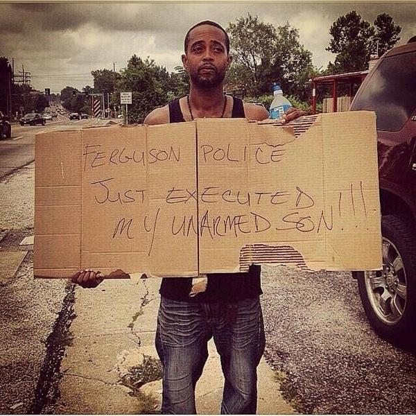 What can the #Ferguson PD possibly say? His son was supposed to be in college today. #JusticeForMikeBrown http://t.co/NAuvTZmtjG