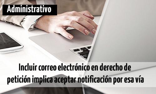 Incluir correo electrónico en derecho de petición implica aceptar notificación por esa vía. http://t.co/I0ldOfjXHE http://t.co/xCHamRJd7R