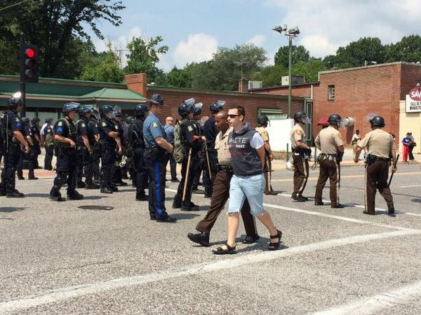 #RIPMichaelBrown demonstrators who refused to leave arrested. http://t.co/6iGBTkKOV7