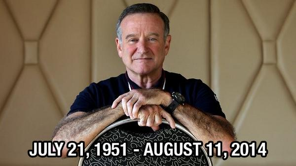 One of the best comedians of all time has left us far too early. RIP Robin Williams. You will be greatly missed. http://t.co/nfjtTgyjYe