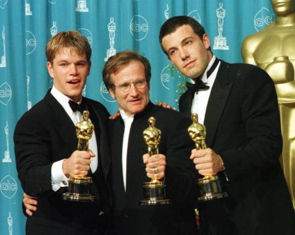 1 of the 1st movies that got me into film Matt Damon @BenAffleck & Robin Williams Oscar night for Good Will Hunting http://t.co/MF96H7eY3D
