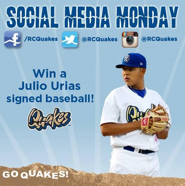 Win a Julio Urias signed baseball as part of Social Media Monday! RT to enter to win. http://t.co/Y207Qh3wkv