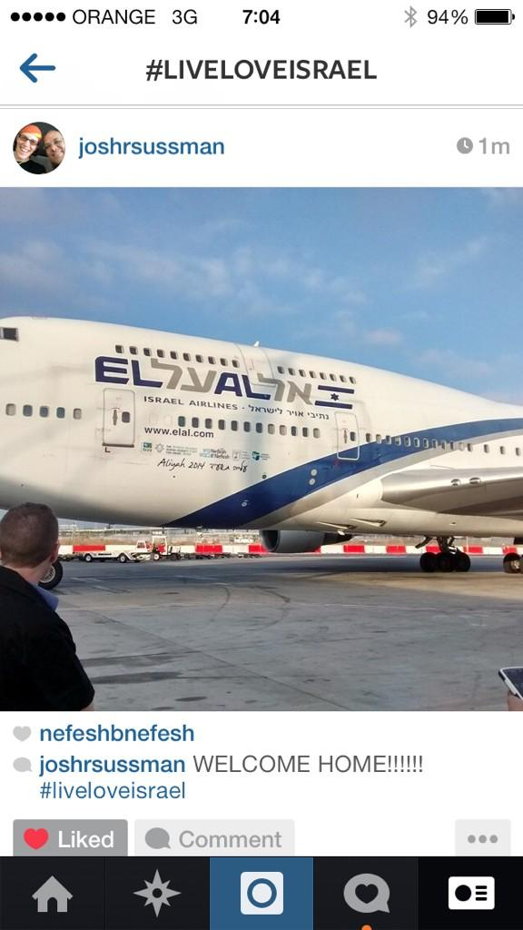 The eagle has landed. Welcome home to 338 Olim! #LiveLoveIsrael http://t.co/ksWqvFaR1u
