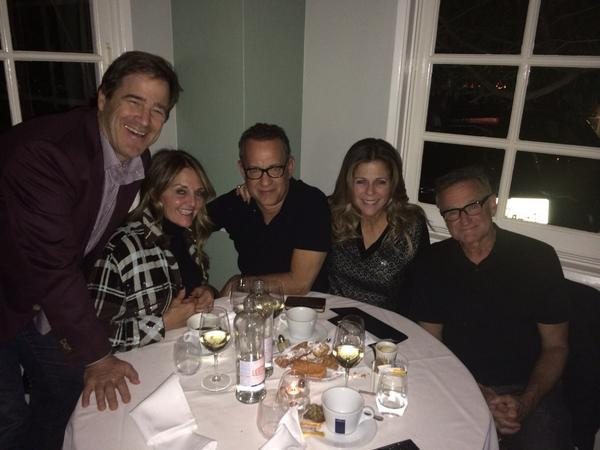 The last time @tomhanks and I saw our sweet friend Robin a few months ago with his and our dear friends from NorCal. http://t.co/O3xKYXooXv