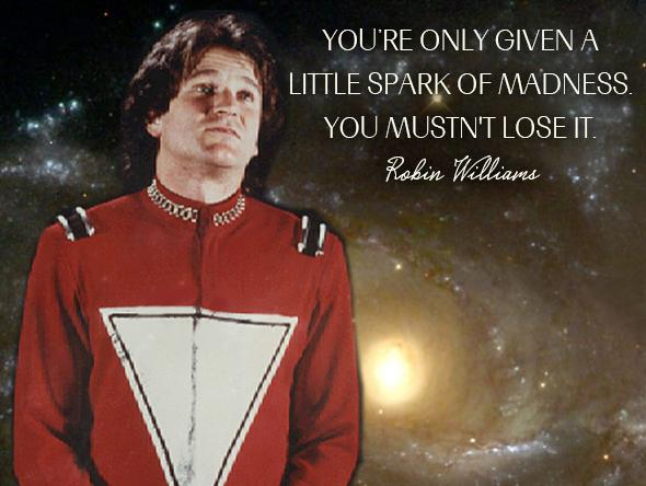 Our madness makes us sparkle! Rest peacefully #robinwilliams xx http://t.co/cqVKgNDxXc