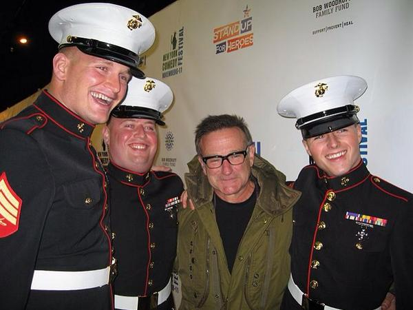Robin Williams was an early supporter of our Stand Up For Heroes event-A hero & a voice for wounded service members. http://t.co/wScSDbfftX