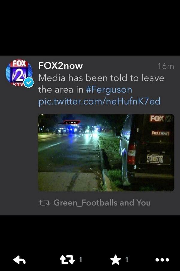 Disturbing. Freedom of the press is part of democracy. #Ferguson http://t.co/qgp8ohD73g