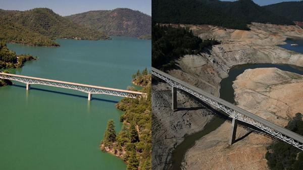A Portrait of California's Drought: Our Shrinking Reservoirs http://t.co/h40JwKliK6 http://t.co/9HUs3UPTsf