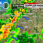 RT @MattRudkinWSBT: 2:10p: Line of storms moving through the area. VERY heavy rain, frequent lightning and winds upwards of 60mph. #INwx http://t.co/vbCoo6tvoO