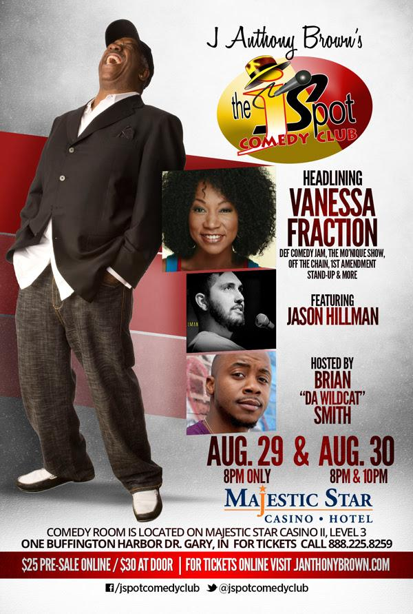 @WGNNews The Hilarious @VanessaFraction Headlines #TheJSpot Comedy Club @ The Majestic Star Casino This Weekend! http://t.co/dnJWZgWVUD