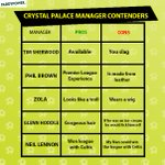 Crystal Palace seem to be struggling to appoint a manager, this might help them to decide. http://t.co/cDmrVV23oB