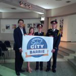 RT @Mayor_Jeff: Today @barriepolice & Council thanked all the community groups who helped us become Canadas safest city. #barrie http://t.co/sdx9ntPByQ