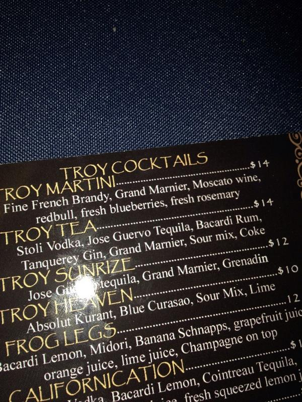 I will pay anyone who drinks the Troy Martini five dollars. #troystory http://t.co/MPMLP8kd6N