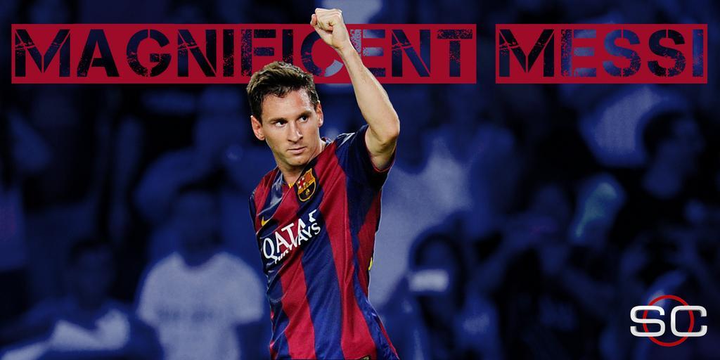 RT @SportsCenter: Lionel Messi starts Barcelona's La Liga season off with 2 goals in a 3-0 win over Elche. http://t.co/BIWtYLfHHG