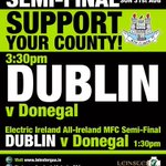 Only 2 days to go @DubGAAOfficial v Donegal Minor @ 1:30pm & Senior @ 3:30pm #NothingBeatsBeingThere #gaa http://t.co/iXhpfkm1kk