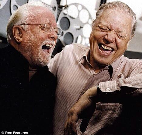 #RichardAttenborough with his little brother David. Two wonderful gentlemen who have enriched our lives. http://t.co/muVPYyQTR9