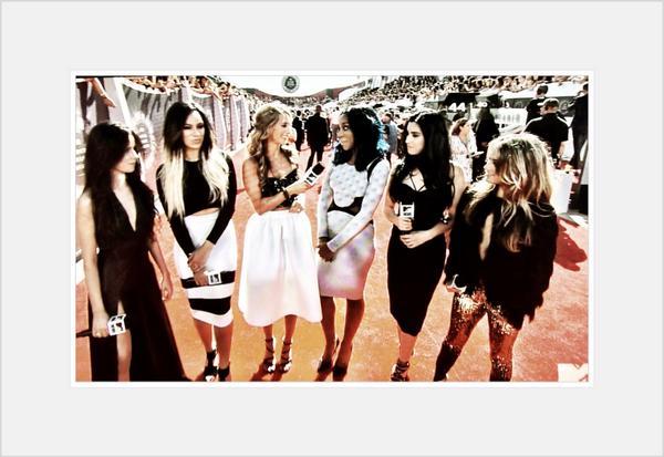 The ladies of @FifthHarmony rocked it on the @MTV #VMA #RedCarpet. @MTVstyle #fashionandmusic http://t.co/ttn0fFAOiv